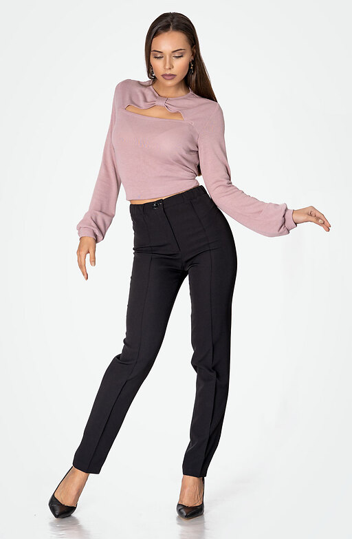 Класически панталон с външен ръб и висока талия