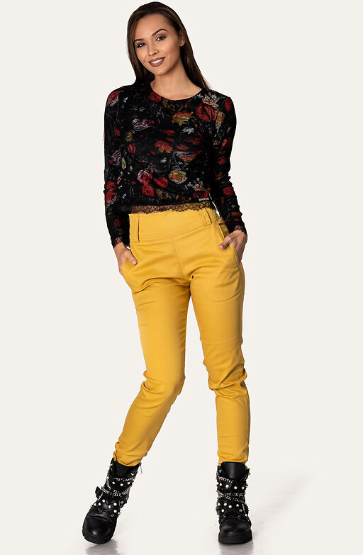 Панталон в цвят горчица
