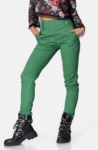 Панталон в зелен десен