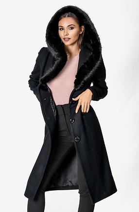 Луксозно палто от естествена вълна