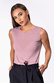 Блузка без ръкав от финно плетиво