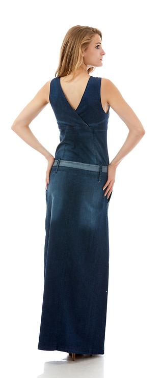 Дънкова дълга рокля