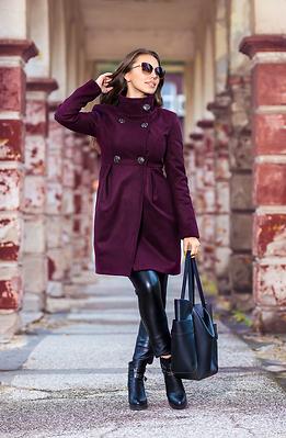 Елегантно палто в цвят вишна